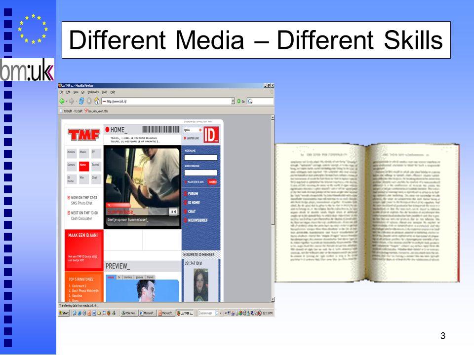 3 Different Media – Different Skills