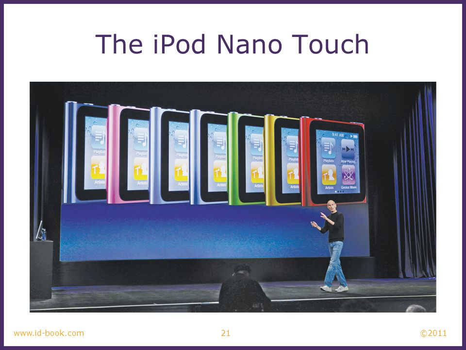 ©2011 The iPod Nano Touch 21www.id-book.com