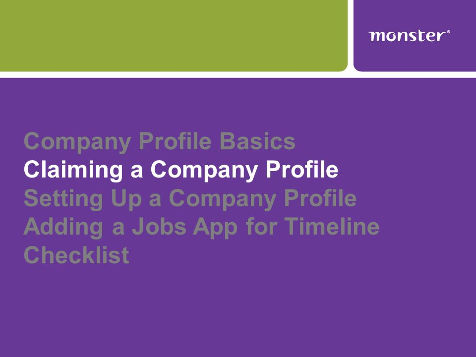 Claiming a Company in 4 Easy Steps Go to your personal profile.