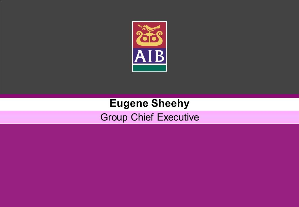Eugene Sheehy Group Chief Executive