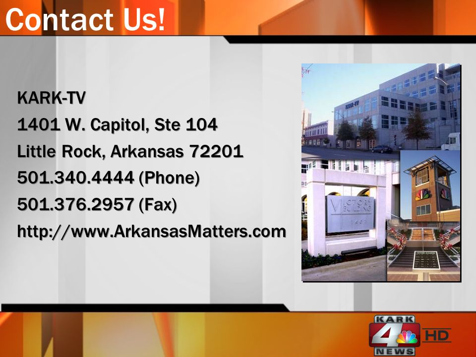 Contact Us.KARK-TV 1401 W.