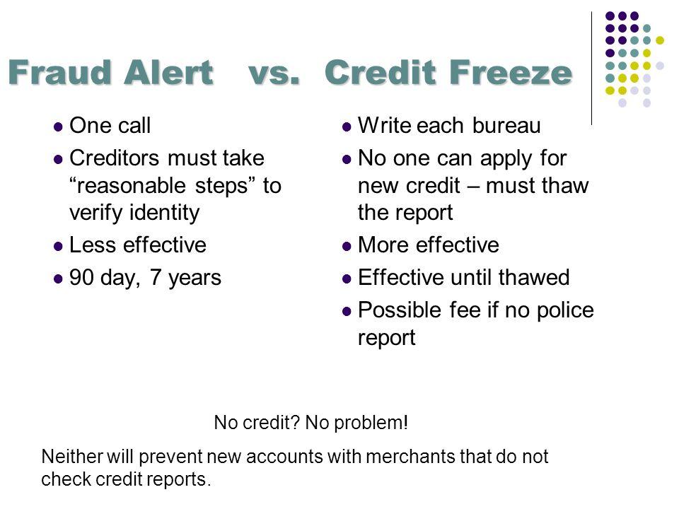 Fraud Alert vs.