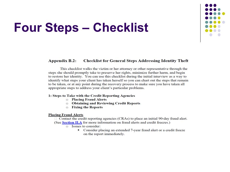 Four Steps – Checklist
