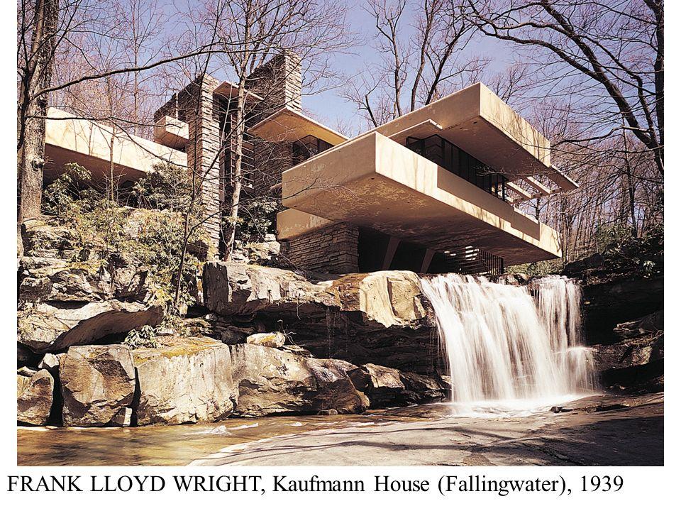 FRANK LLOYD WRIGHT, Kaufmann House (Fallingwater), 1939