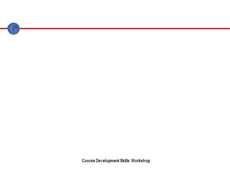Course Development Skills Workshop