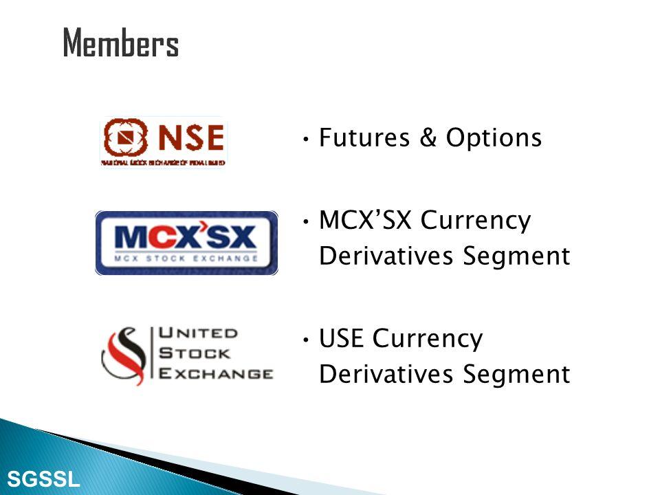 National Stock Exchange Bombay Stock Exchange National Security Depository Ltd. SGSSL