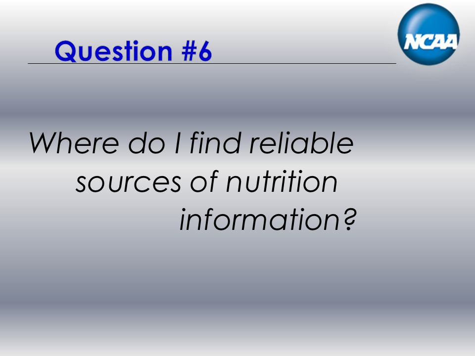 Where do I find reliable sources of nutrition information