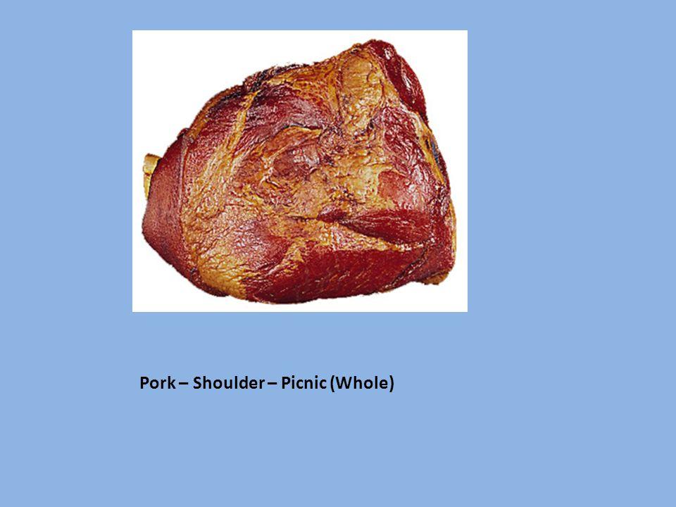 Pork – Shoulder – Picnic (Whole)