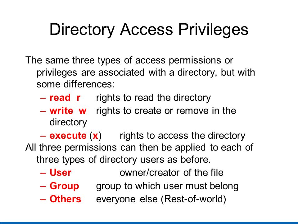 Linux File Permissions Three special access bits on files for extra control.