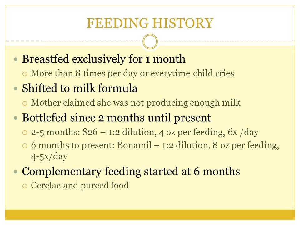 24 – HR FOOD RECALL Amount MacronutrientsTotal CHO (4 cal/g) CHON (4 cal/g) Fats (9 cal/g)Kilocalories BREAKFAST Milk 1:2 8 oz12810170 SNACK LUNCH Milk12810170 Cerelac1232,583 SNACK Milk12810170 DINNER Milk12810170 ACI763 RENI720 % 106%