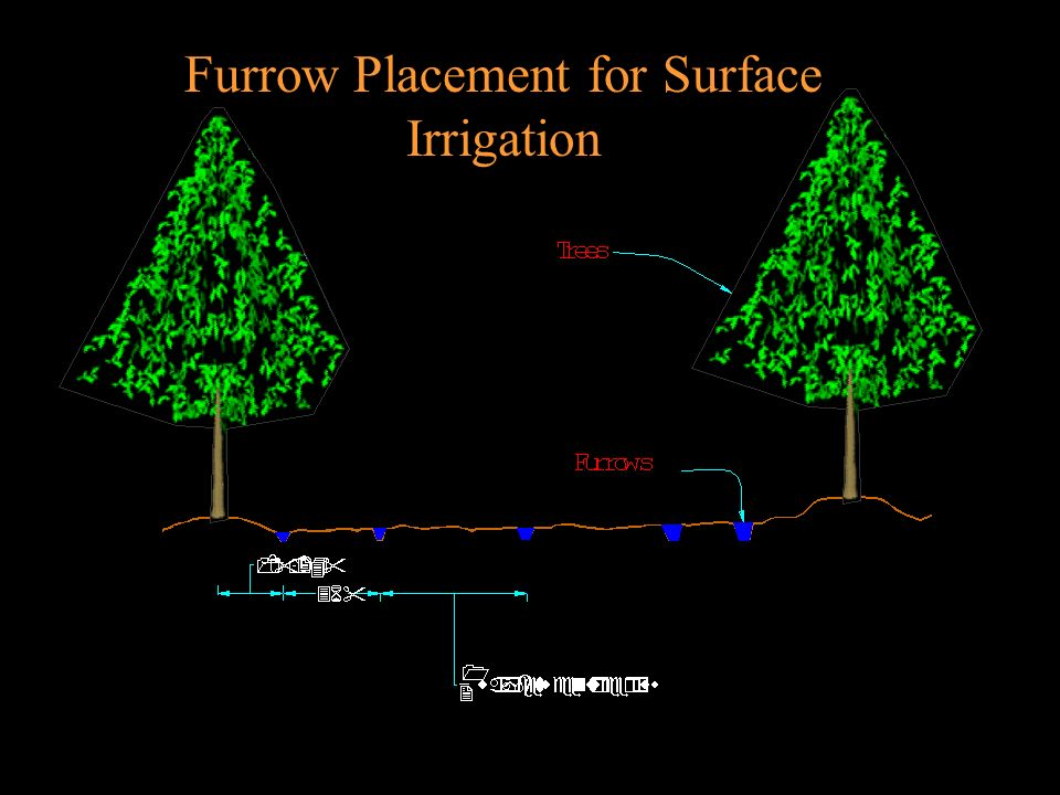 Furrow Placement for Surface Irrigation