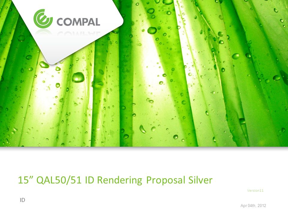 ID 15 QAL50/51 ID Rendering Proposal Silver Version11 Apr 04th, 2012