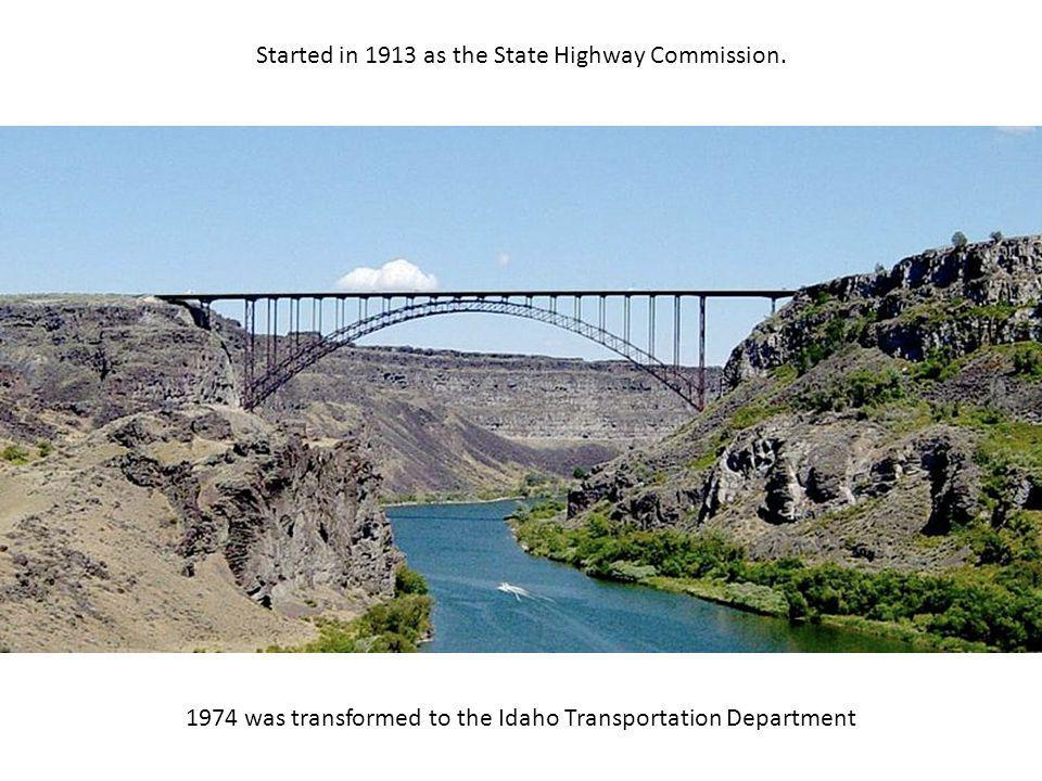 Started in 1913 as the State Highway Commission.