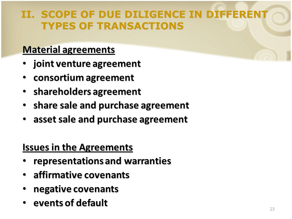 23 Material agreements joint venture agreement joint venture agreement consortium agreement consortium agreement shareholders agreement shareholders a