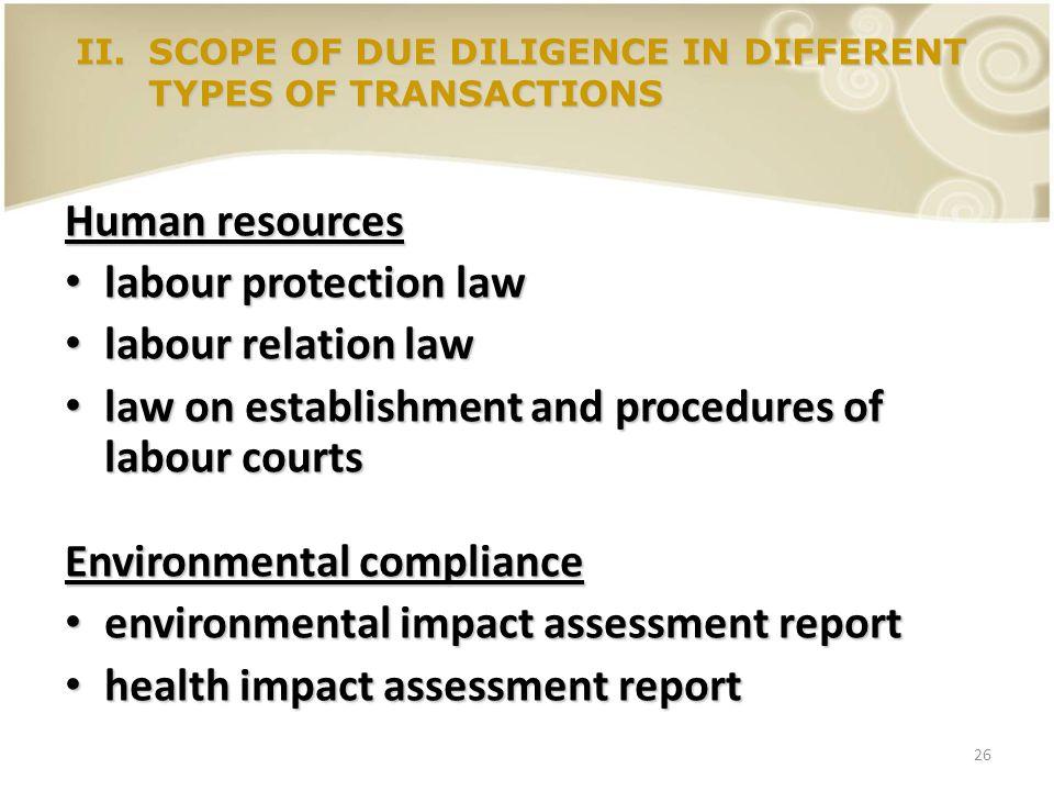 26 Human resources labour protection law labour protection law labour relation law labour relation law law on establishment and procedures of labour c