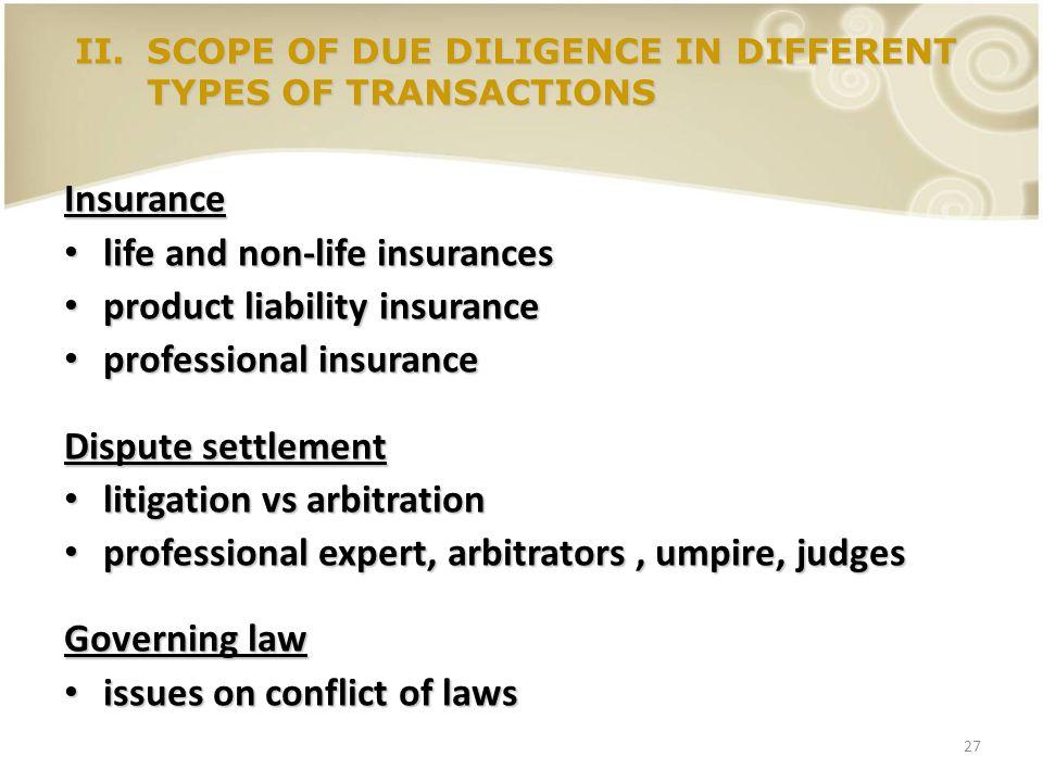 27 Insurance life and non-life insurances life and non-life insurances product liability insurance product liability insurance professional insurance