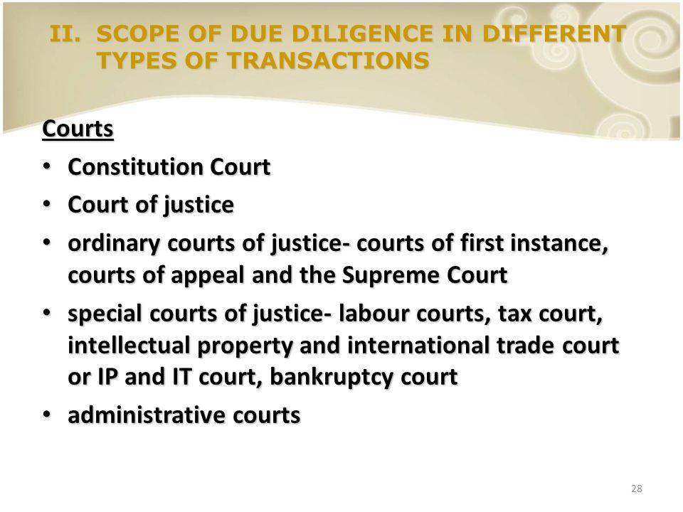 28 Courts Constitution Court Constitution Court Court of justice Court of justice ordinary courts of justice- courts of first instance, courts of appe