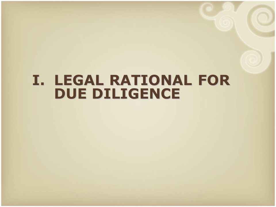 14 Conduct of legal due diligence Roles of local advisors and foreign advisors.