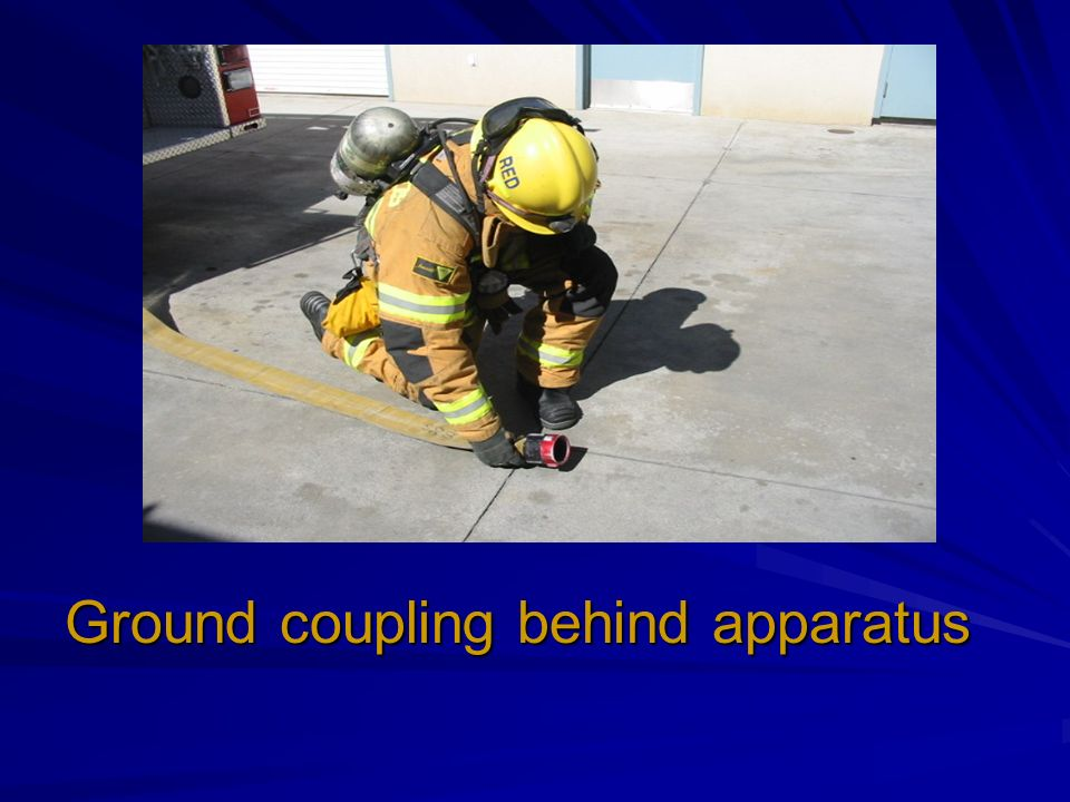Ground coupling behind apparatus