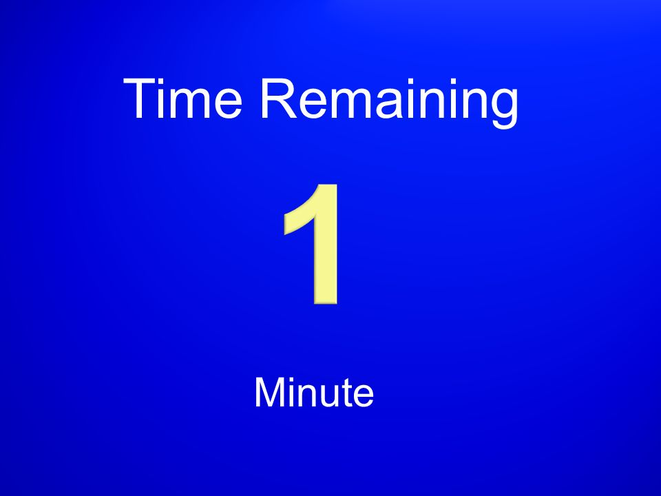 Time Remaining Minute