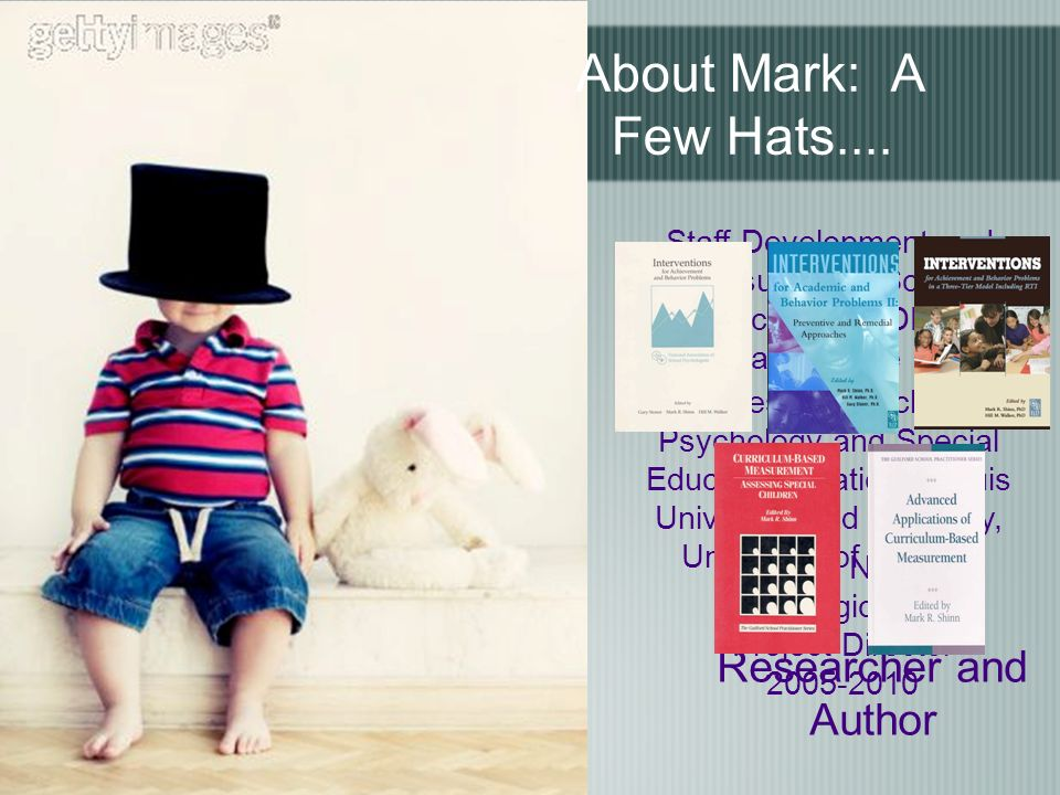About Mark: A Few Hats....
