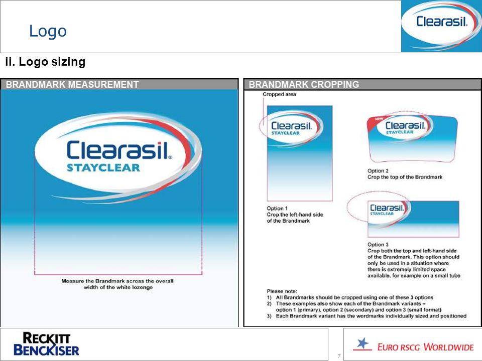 7 Logo ii. Logo sizing