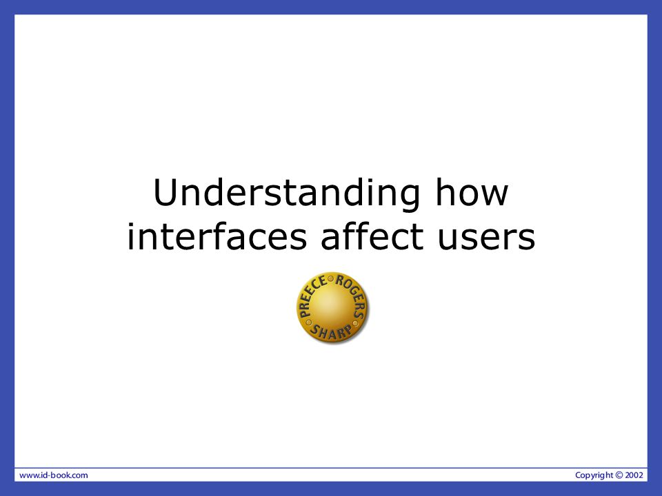 Overview Expressive interfaces –how the appearance of an interface can elicit positive responses Negative aspects – how computers frustrate users Anthropomorphism and interface agents –The pros and cons Designing synthetic characters