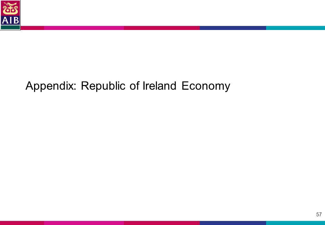 57 Appendix: Republic of Ireland Economy