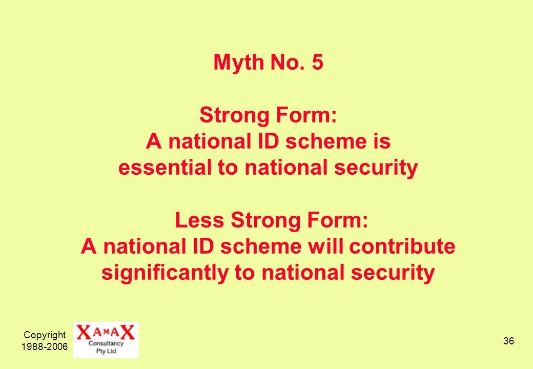 Copyright 1988-2006 36 Myth No.