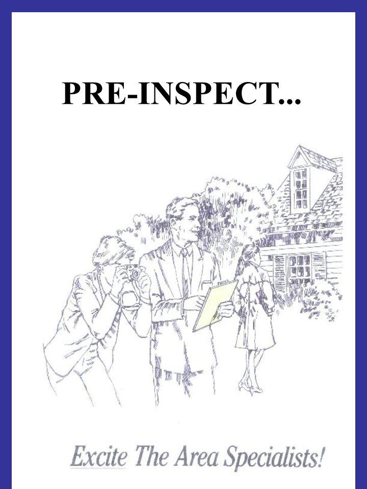 PRE-INSPECT...