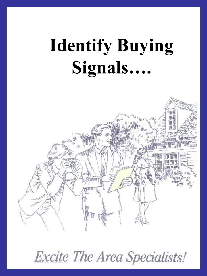 Identify Buying Signals….