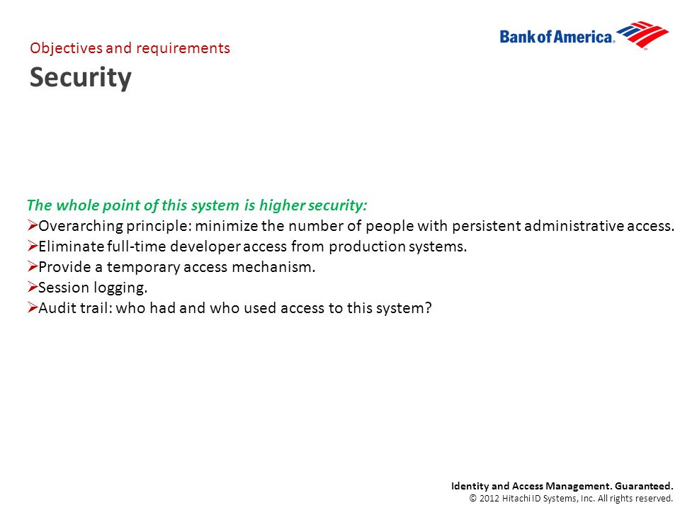 Identity and Access Management. Guaranteed. © 2012 Hitachi ID Systems, Inc.