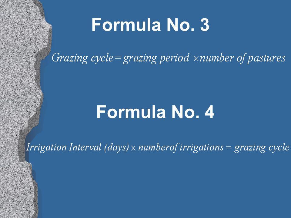 Formula No. 3 Formula No. 4