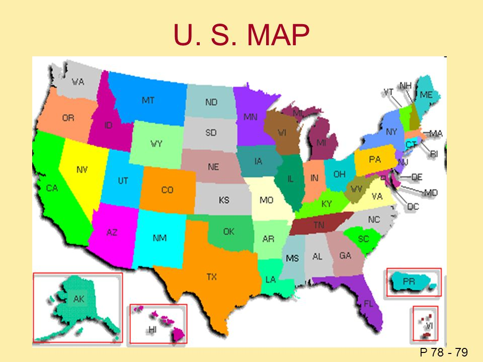 U. S. MAP P 78 - 79