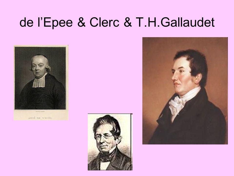 de lEpee & Clerc & T.H.Gallaudet
