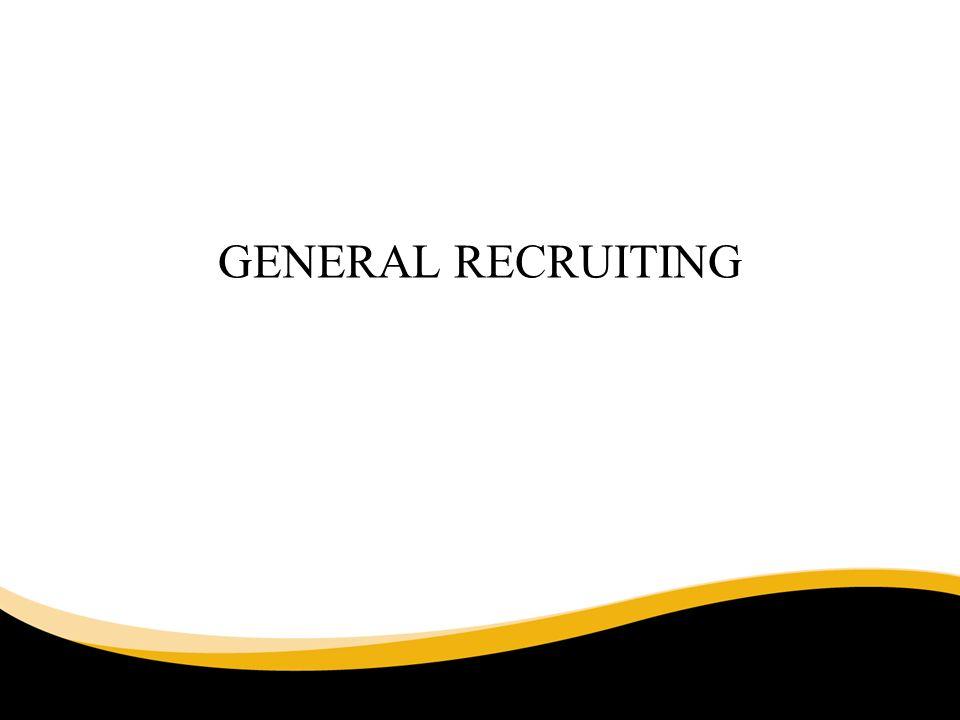 GENERAL RECRUITING 6/30/11