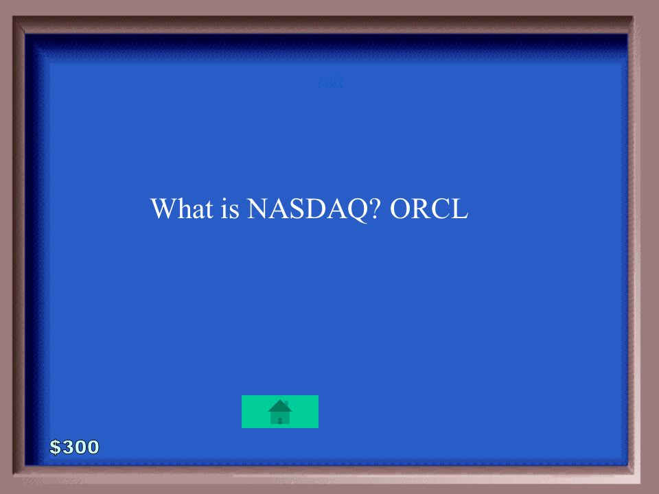 1-300 Oracle is traded on this stock market.