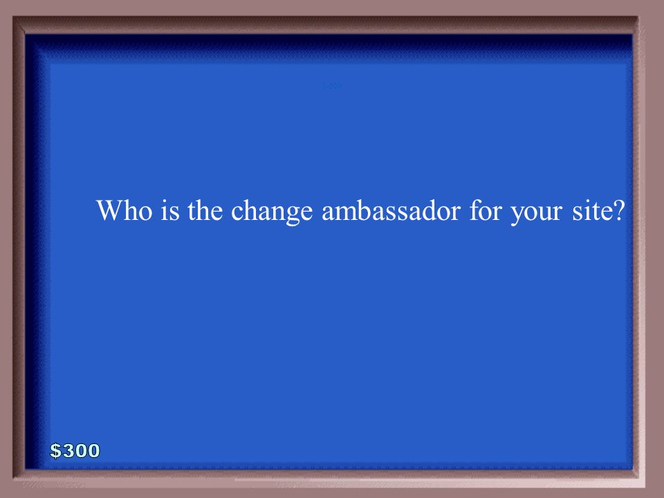 3-200A Who is the Change Ambassador