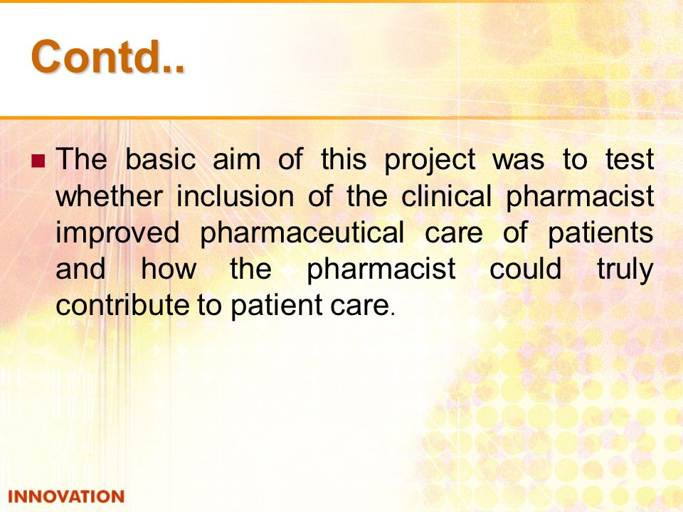 OBJECTIVES: To identify the medication errors.Detection of Adverse Drug Reaction.
