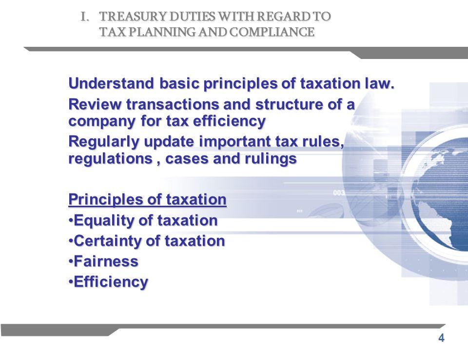 5 Ideal tax policies 1.Tax policies should be less complex.