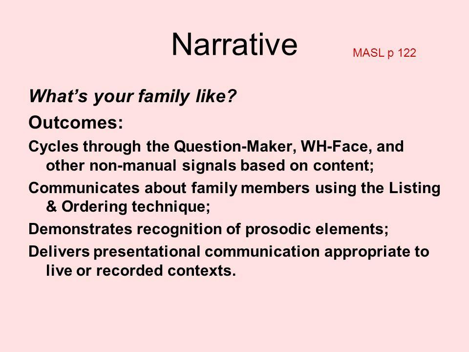 Master ASL Unit 4 Narrative