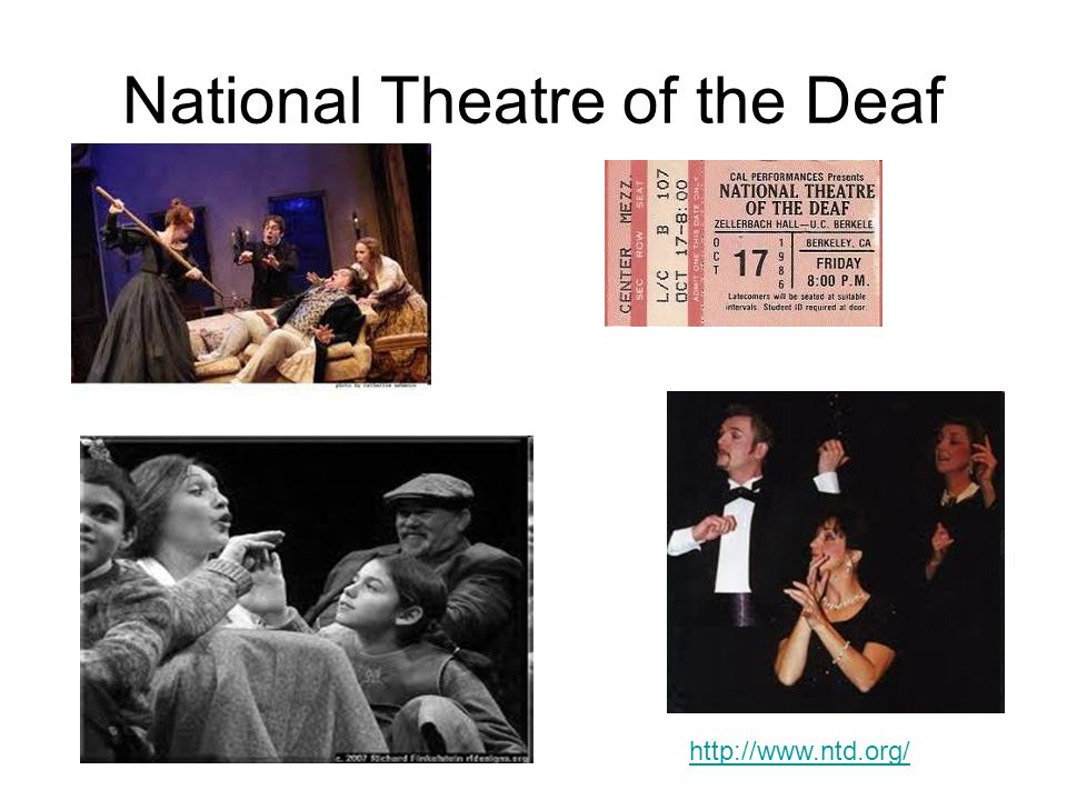 National Theatre of the Deaf http://www.ntd.org/