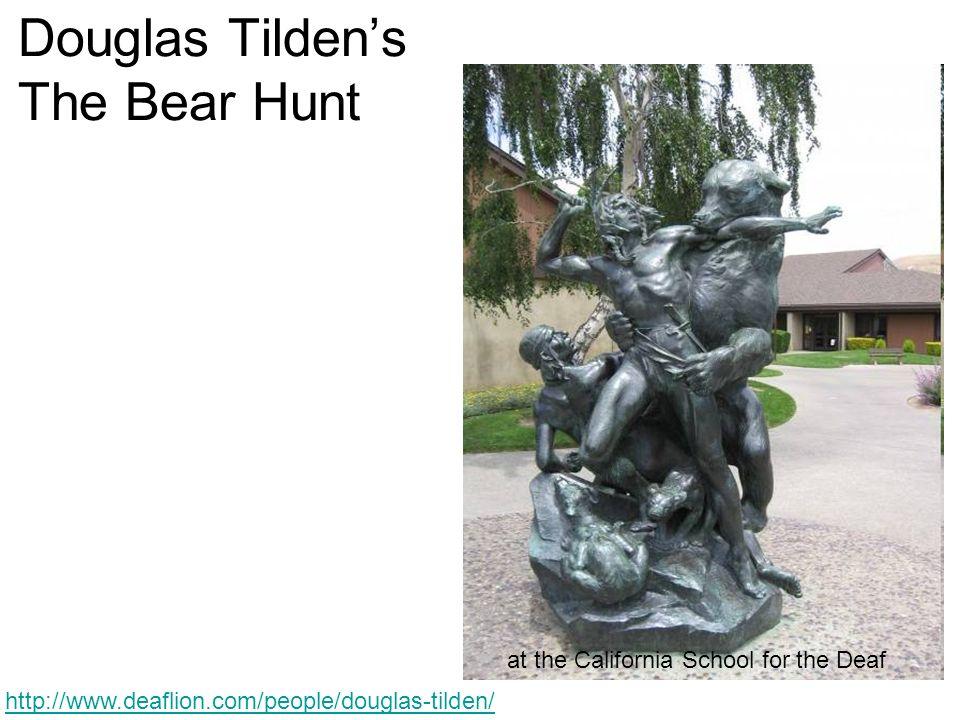Douglas Tildens The Bear Hunt at the California School for the Deaf http://www.deaflion.com/people/douglas-tilden/