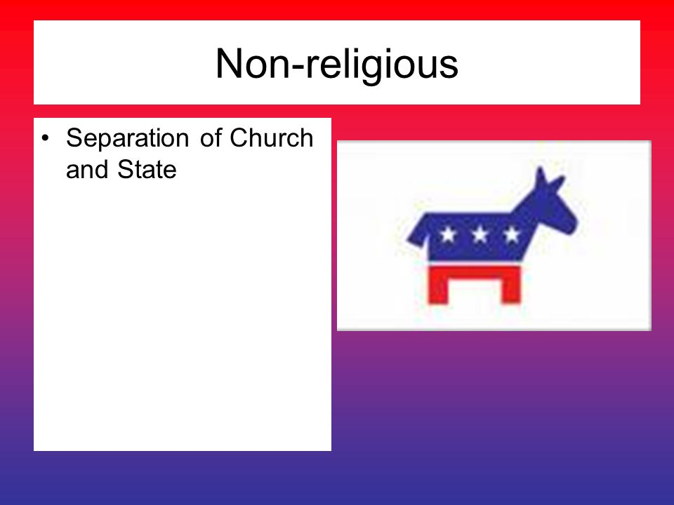 Non-religious Separation of Church and State