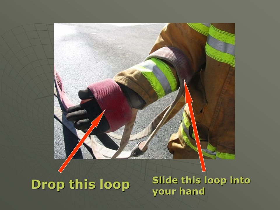 Drop this loop Slide this loop into your hand