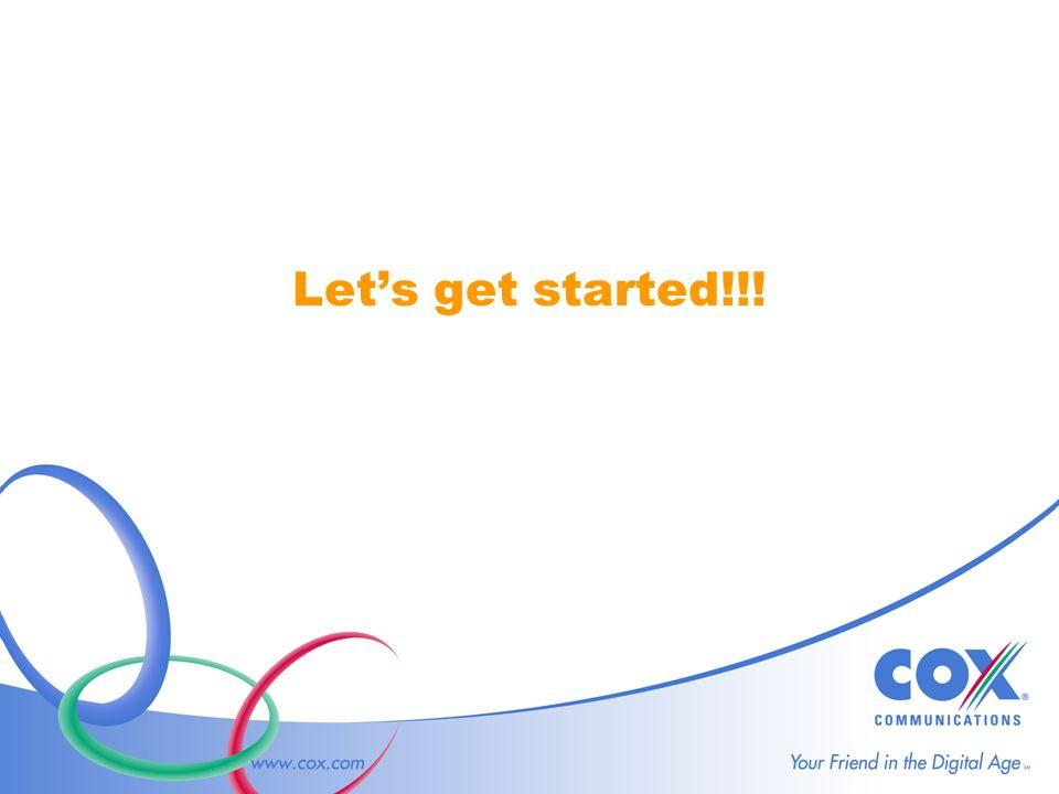 Lets get started!!!