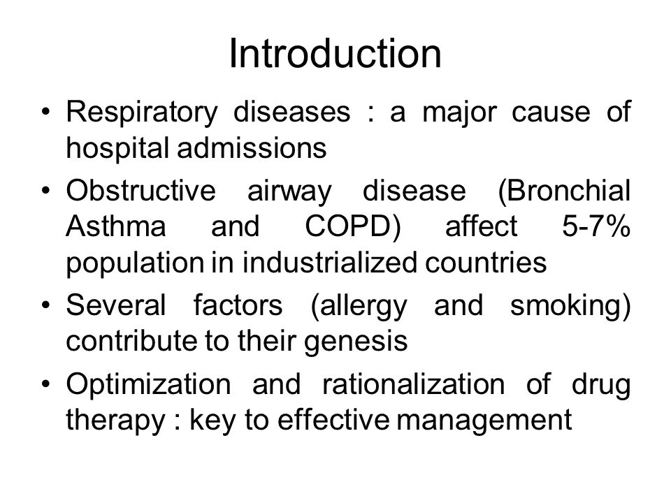 Bronchodilators and corticosteroids are the mainstay in the treatment of these conditions Theophylline : Emerging as an important adjuvant in the treatment of bronchial asthma and COPD Combination with other drugs has synergistic effects in many situations