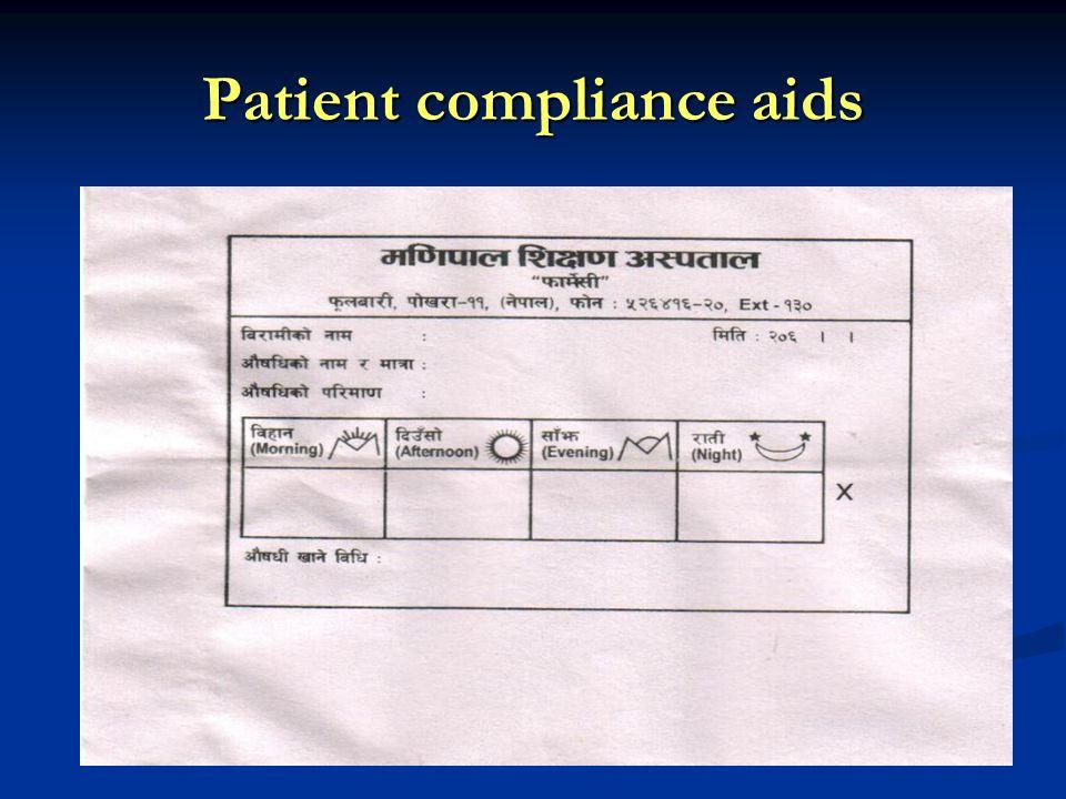 Patient compliance aids