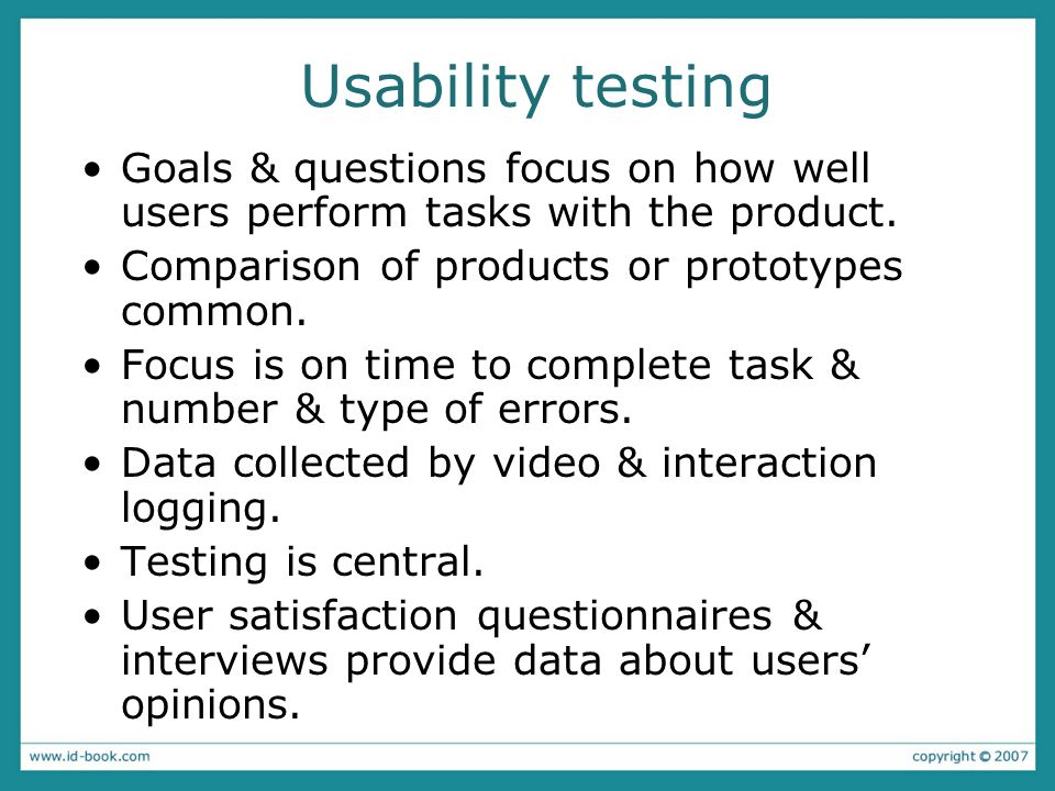 Usability lab with observers watching a user & assistant