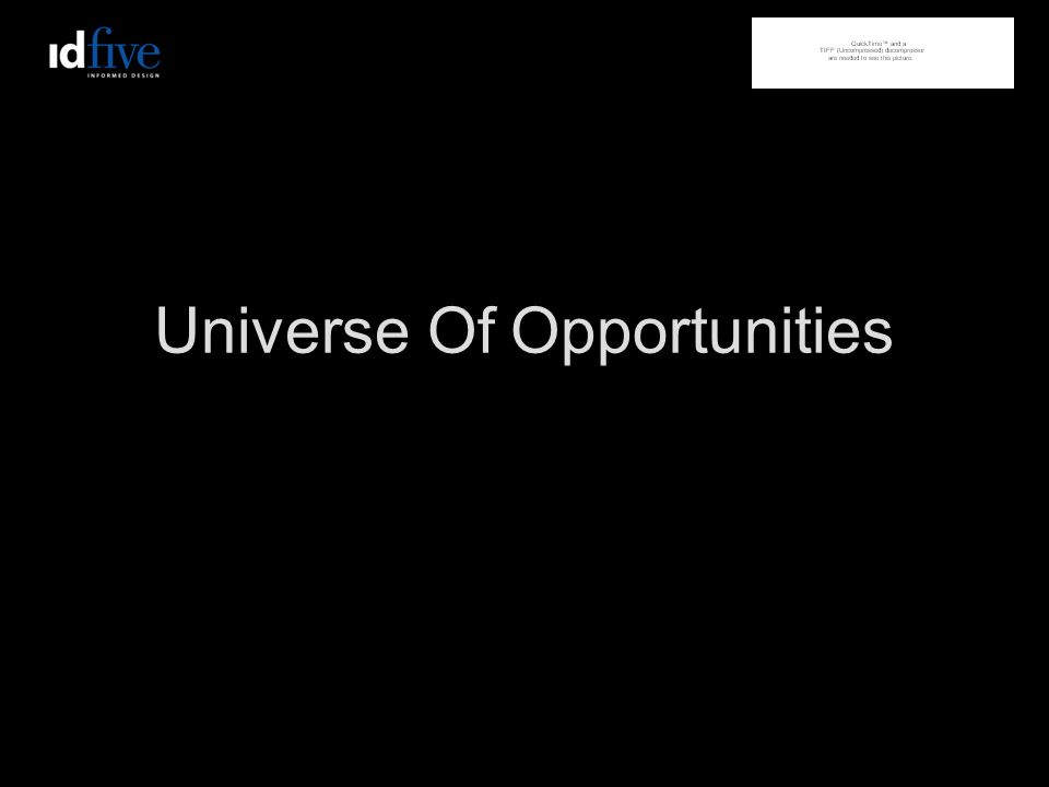 Universe Of Opportunities